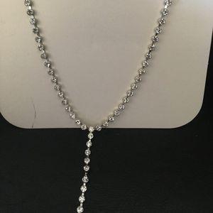 Badgley Mischka Bezel Set Crystal & Pearl End Chok